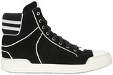 Balmain Suede High Top Sneakers