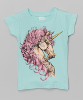 Micro Me Mint Unicorn Fitted Tee - Infant Toddler & Girls