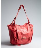 Kooba coral leather 'Zoey' flap front shoulder bag