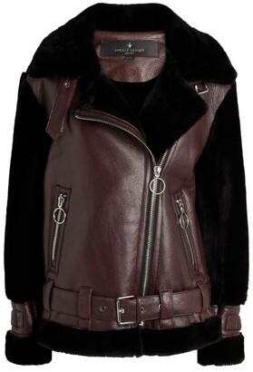 Nicole Benisti Gramercy Contrast Shearling Biker Jacket