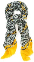 J.Mclaughlin Reed Wool Scarf in Needlepoint Square