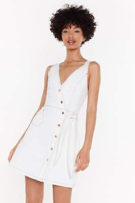 Nasty Gal Womens That'S A Wrap Button Denim Dress - White - L, White