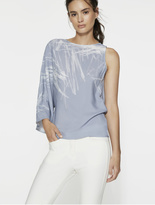 Halston Printed Silk Viscose Top