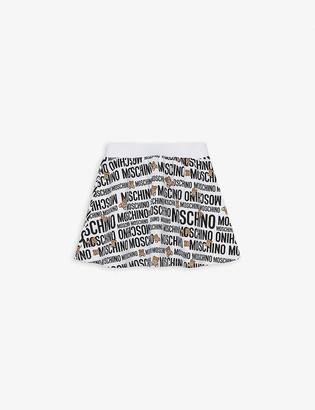 Moschino Bear logo cotton skater skirt 4-14 years