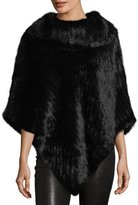 La Fiorentina Knitted Mink Fur Poncho