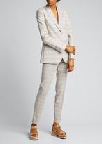 Gabriela Hearst Lisa Plaid Skinny Trousers