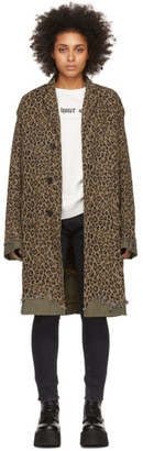 R 13 Brown Leopard Shredded Coat