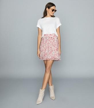 Reiss ORIELLE FLORAL PRINTED MINI SKIRT Pink Print