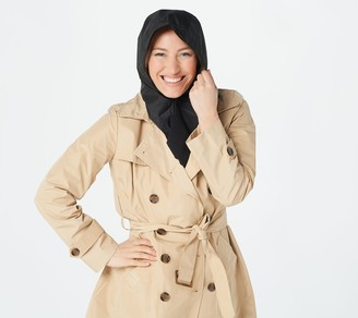 Rain Hood with Attached Chiffon Scarf by Sprigs