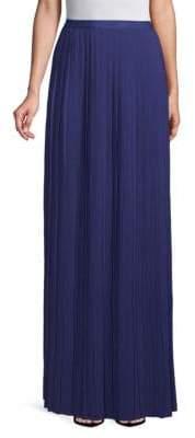 Pleated Floor-Length Skirt