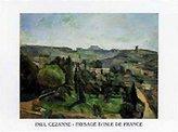 Cezanne 1art1 Posters: Paul Poster Art Print - Paysage D'isle De France (28 x 20 inches)