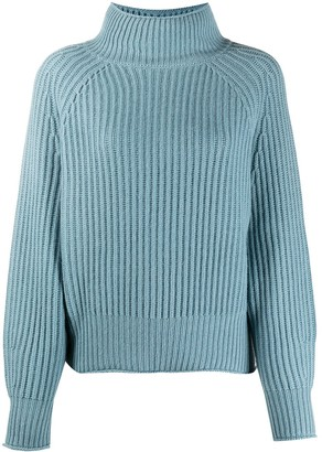 Allude Ribbed Knit Jumper