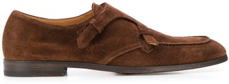 Doucal's Loop Strap Monk Shoes
