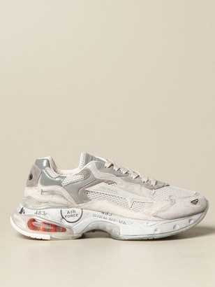Premiata Sneakers Sharky Sneakers In Suede And Mesh