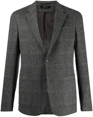 Ermenegildo Zegna Single-Breasted Check Blazer
