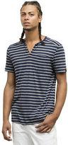 Kenneth Cole Striped V-Neck Henley T-Shirt
