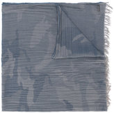 Woolrich faded camouflage print scarf - men - Cotton - One Size