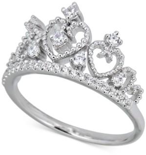 Macy's Diamond Heart Tiara Ring (1/4 ct. t.w.) in 14k White Gold