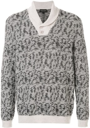 Emporio Armani Knitted Shawl-Neck Sweater
