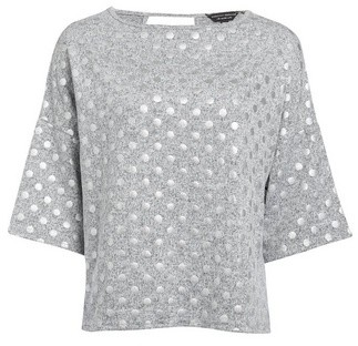 Dorothy Perkins Womens Grey Foil Spot Boxy Jumper, Grey