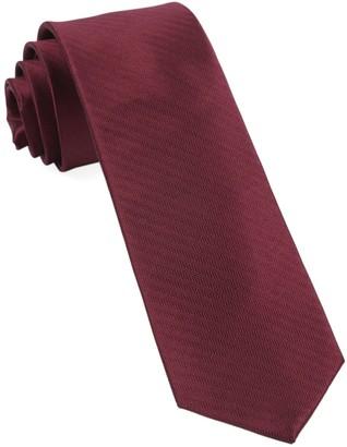 Tie Bar Sound Wave Herringbone Burgundy Tie