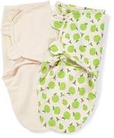 Summer Infant SwaddleMe Organic Cotton, 7-14 Lbs, Small-Medium, Apple and Ivory