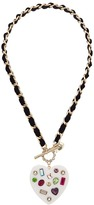 Betsey Johnson Chain and Ribbon Pendant Necklace