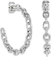 Adore Fixed Cable Link Hoop Earrings