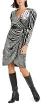 INC International Concepts Inc Puff-Sleeve Velvet Wrap Dress, Created for Macy's