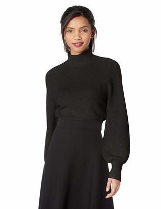BCBGMAXAZRIA Women's Turtleneck Cropped Sweater