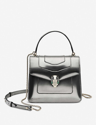 Bvlgari Serpenti Forever metallic leather cross-body bag