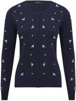 M&Co Embroidered bumble bee cardigan