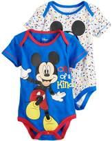 "Disney Disney's Mickey Mouse Baby Boy 2-Pack ""One of a Kind"" Bodysuit Set"
