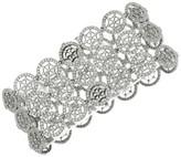 Tiffany & Co. 18K White Gold & Platinum Voile Diamond 3-Row Bracelet