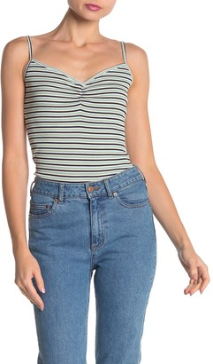 Lush Striped Ribbed Knit Tank Top
