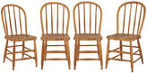 Rejuvenation Set of 4 Turned Pine Kitchen Chairs