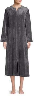 Miss Elaine Long Zip-Front Robe