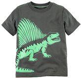 Carter's Baby Boy Short Sleeve Gray & Green Dinosaur Graphic Tee