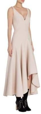 Alexander McQueen Wool and Silk Blend Drape Dress