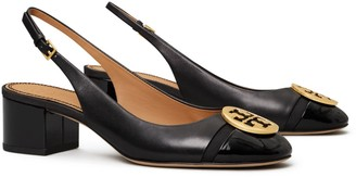 Tory Burch Minnie Cap-Toe Slingback Pump