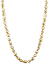 Honora Style Champagne Cultured Freshwater Pearl Necklace in Sterling Silver (7-8mm)
