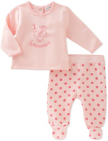 Absorba Pink 'I Am a Dreamer' Top & Polka Dot Footie Pants - Infant