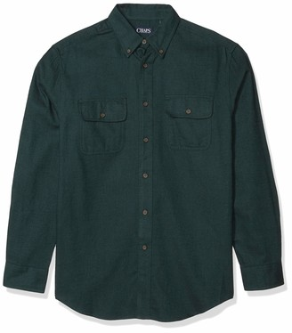 Chaps Men's Big and Tall Long-Sleeve-Casual Untucked Twill Shirt