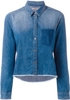 Calvin Klein Jeans raw hem denim shirt - women - Cotton - L
