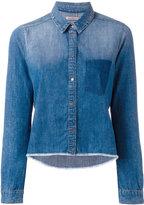 Calvin Klein Jeans raw hem denim shirt
