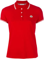 Moncler contrast trim polo shirt - women - Cotton - XS