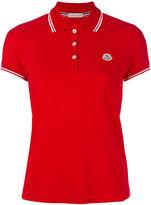 Moncler contrast trim polo shirt