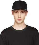 Rag & Bone Black Wool and Leather Cap