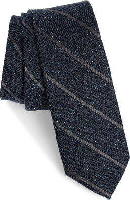 The Tie Bar Decruise Stripe Silk Tie