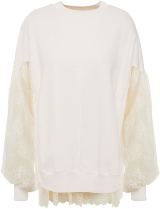 Clu Lace-paneled French Terry Sweatshirt